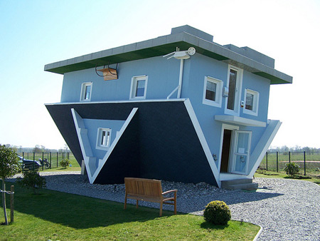 A house that is upside down, learn from our mistakes.