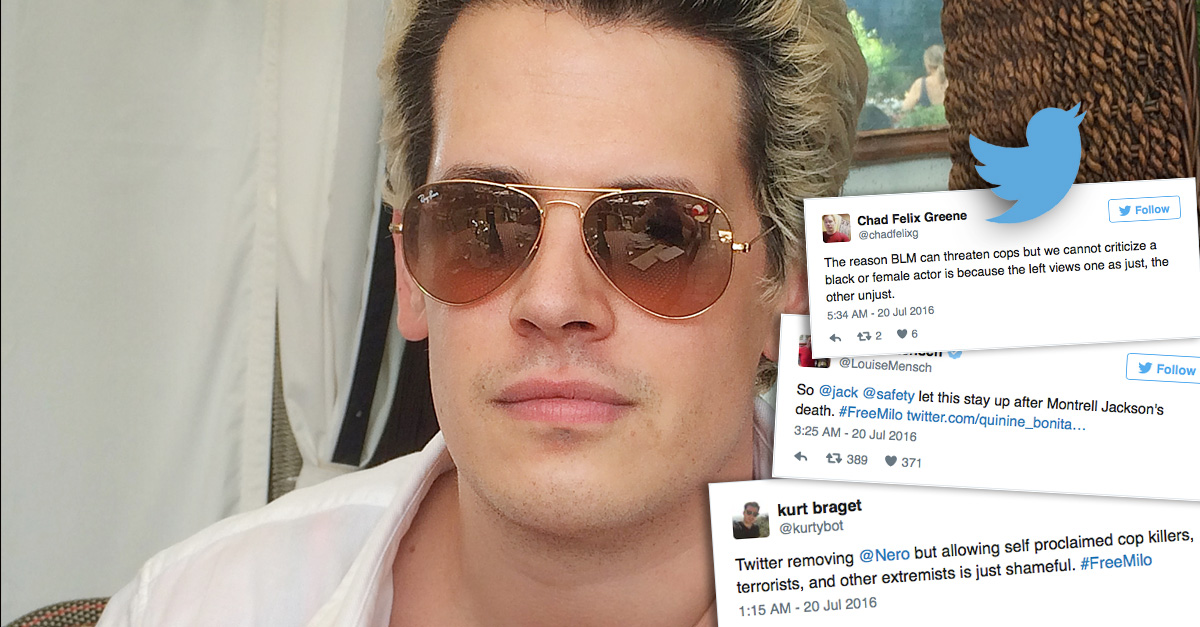 Free Milo movement on Twitter